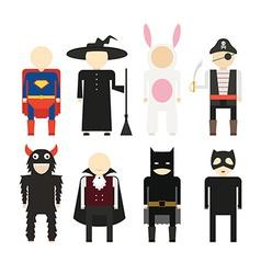 Halloween costumes vector