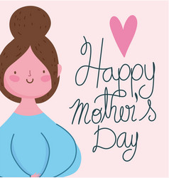 happy mothers day cute woman cartoon character vector image