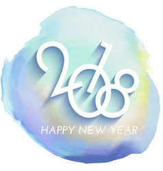 Happy new year background with watercolour texture vector