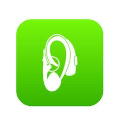 Hearing aid icon digital green vector