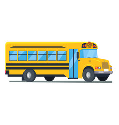 Icon of school bus isolated on white vector
