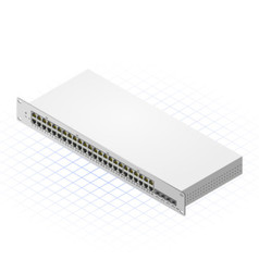 Isometric Switch with SFP Port vector