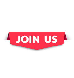 Join us bookmark label vector