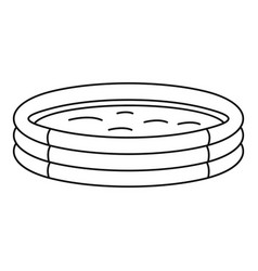 Kid round pool icon outline style vector