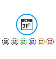 Last year day rounded icon vector