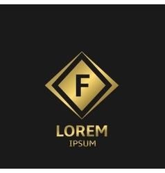 Letter F logo vector image