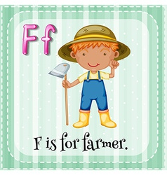 Letter F vector image