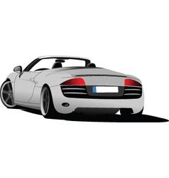 luxury car vector image