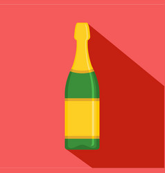 Luxury champagne icon flat style vector