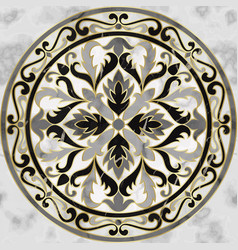 luxury gray marble mosaic classic seamless pattern vector image