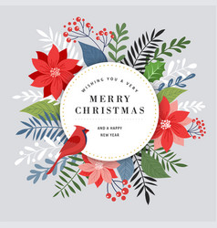 Merry christmas greeting card banner and vector
