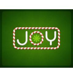 Merry Christmas Joy postcard vector
