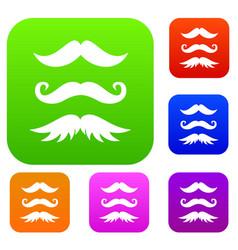 Moustaches set collection vector
