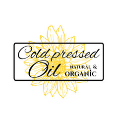 Natural and organic sunflower oil logo vector