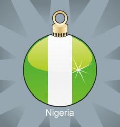 Nigeria flag on bulb vector image