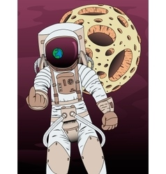 On theme of astronautics vector