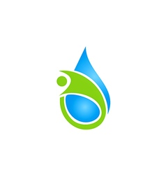 People health care water ecology logo vector