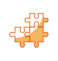 puzzle pieces object shape work vector image