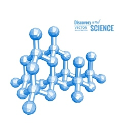 Science molecule vector image