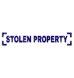 Scratched textured stolen property stamp seal vector