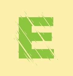 scribbled letter e vector image