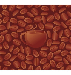 Seamless coffee beans vector