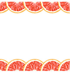 Seamless decorative border of grapefruit slices vector