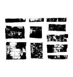 Set grunge backgrounds brush strokes dirty vector