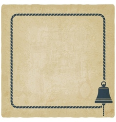 ship bell marine background vector image