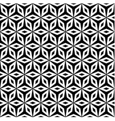 simple ornament geometric texture black and white vector image