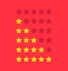 simple rating stars icon set vector image