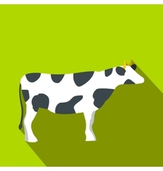 Spotted cow icon flat style vector image
