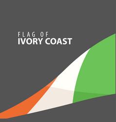 stylish flag of ivory coast against a dark vector image