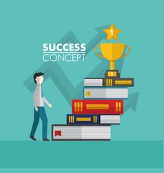 success concept winner card vector image