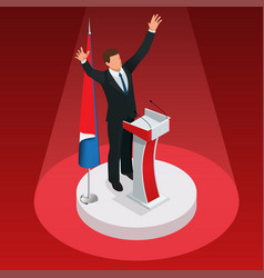 the man is the winner in the elections vector image vector image