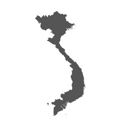 Vietnam map black icon on white background vector