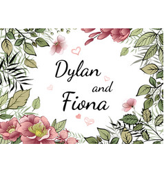 wedding invitations menu invitations vector image