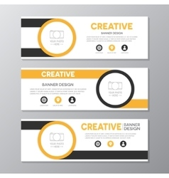 Yellow and brown corporate business banner vector