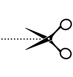 black cutting scissors with points vector image vector image