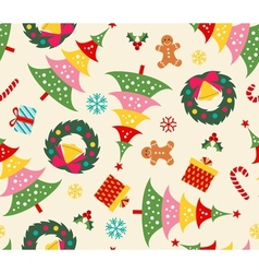 christmas set seamless pattern vector image vector image