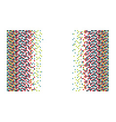 colored figures background icon vector image