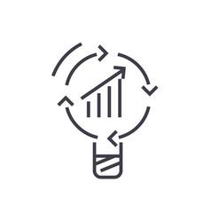 data insight idea line icon sign vector image