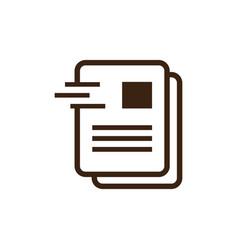 document office icon logo vector image