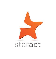 figurative star emblem design vector image