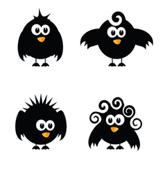 funny and sweet bird vector image