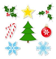 winter decorations set vector image vector image