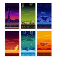 computer games colorful elements cartoon set vector image