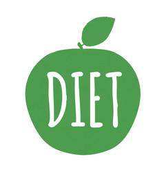 diet label vector image vector image