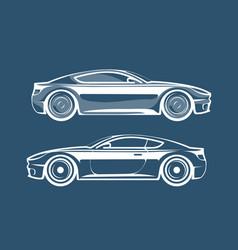 sports car silhouette race vehicle automobile vector image