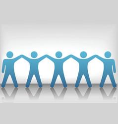 teamwork background vector image vector image